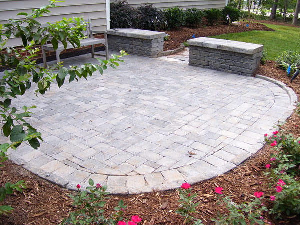 Stone patio installation Raleigh