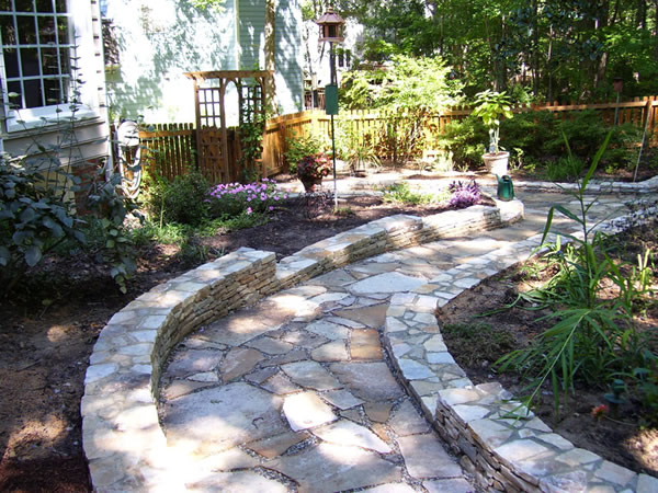 Photo gallery hicks landscape contractors raleigh nc for Landscaping rocks wake forest nc