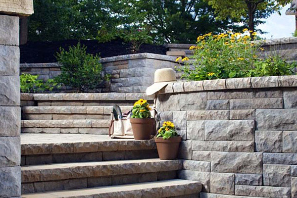 Outdoor Stairs Hardscaping Raleigh