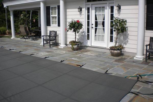 Stone pool deck for the home