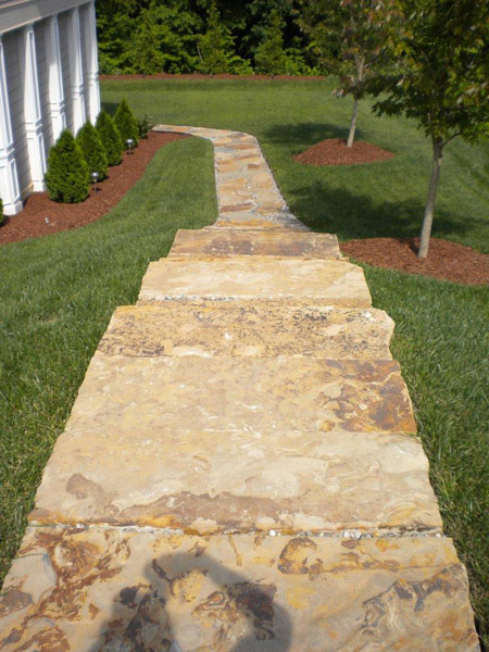 Outdoor stone stairs Raleigh