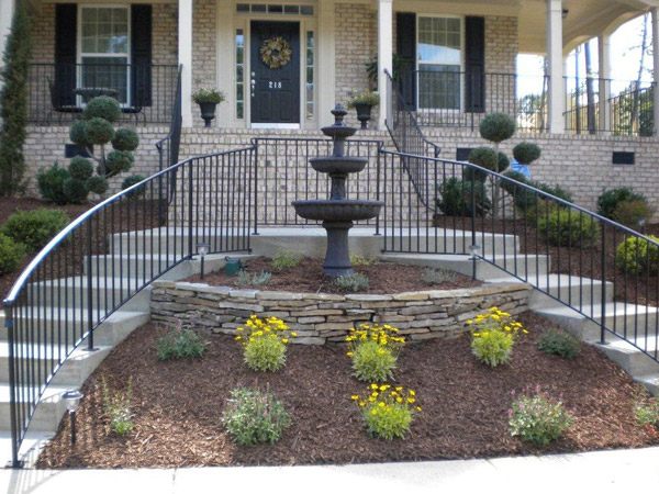 Front Yard Fountain Installation Raleigh