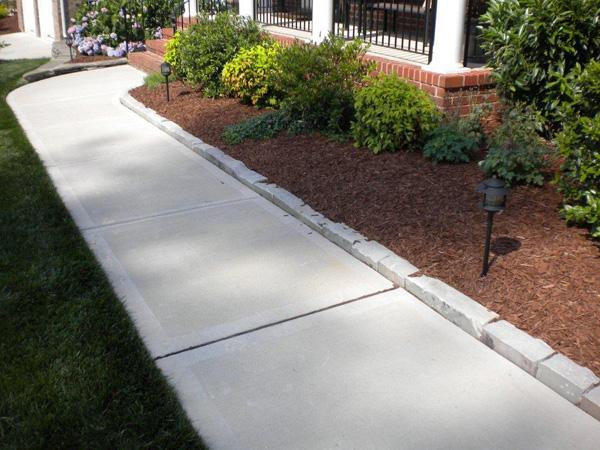 Sidewalk landscaping Raleigh