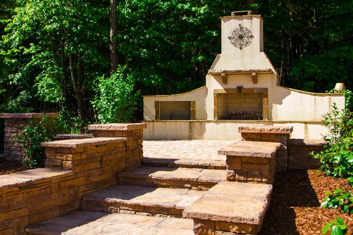 Stone hardscape designs Raleigh