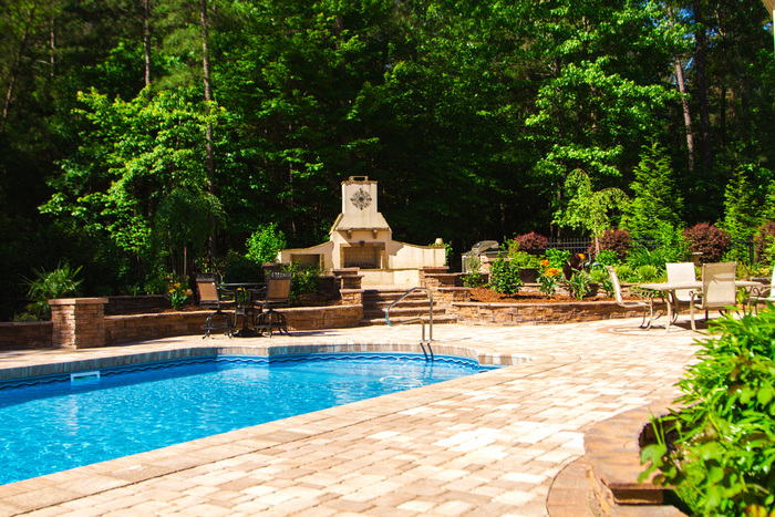 Stone hardscape designs Raleigh