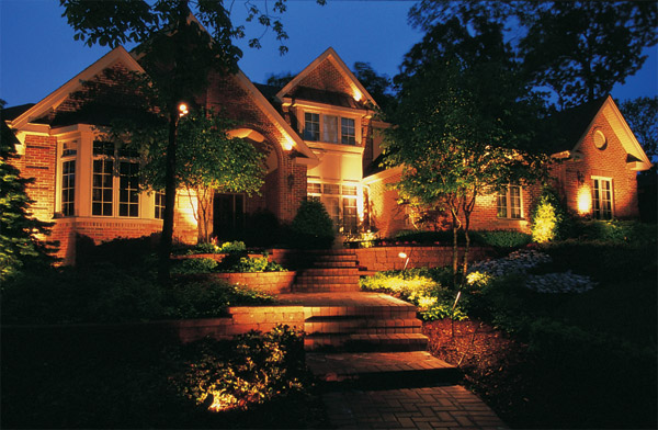 Residential outdoor lighting Raleigh