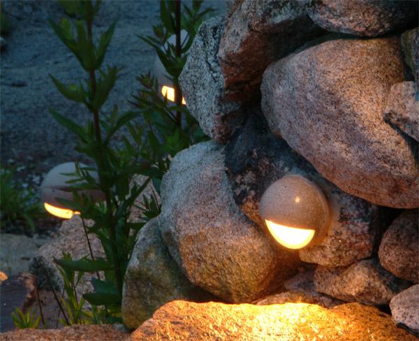 Outdoor Stone Lighting Raleigh