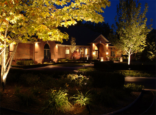 Exterior home lighting Raleigh