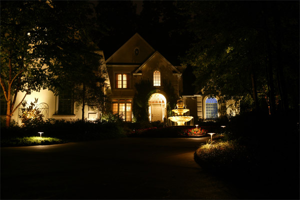 Outdoor home lighting design Raleigh