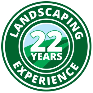 Hicks Landscaping 20 years of experience badge