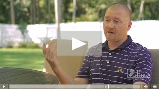 Hicks Landscaping video testimonial